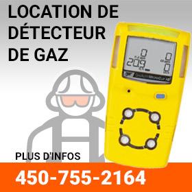Location de détecteur de gaz
