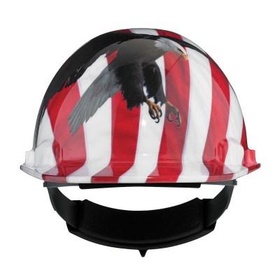 casque de s curit dynamic dom motif aigle et drapeau usa. Black Bedroom Furniture Sets. Home Design Ideas